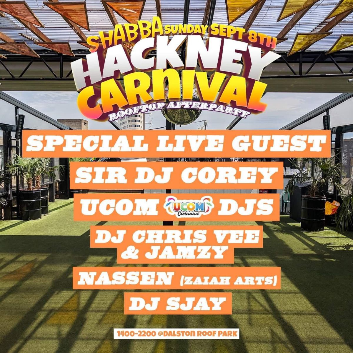 Hackney Carnival Rooftop Afterparty